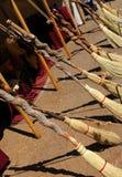 笤帚被手工造的行 库存图片