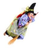 笤帚飞行巫婆 图库摄影