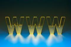 符号万维网宽世界 库存图片