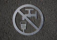 符号不能饮用的水 免版税库存照片