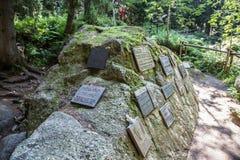 符号公墓在高Tatras,斯洛伐克 图库摄影