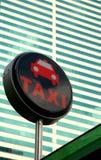 符号出租汽车 免版税图库摄影