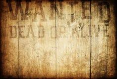 符号墙壁想要西部木 免版税图库摄影
