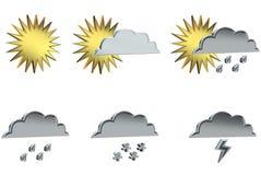 符号天气 库存照片