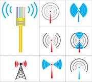 符号导航无线 库存照片