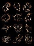 符号星形黄道带 库存照片