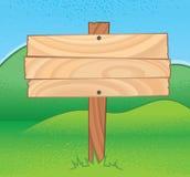 符号木头 免版税图库摄影
