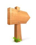 符号木头 库存例证