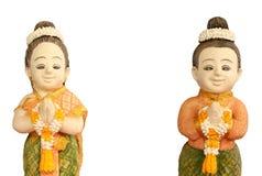 符号泰国传统欢迎 免版税库存图片