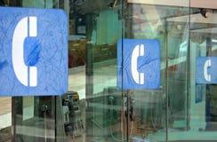 符号电话 免版税库存照片