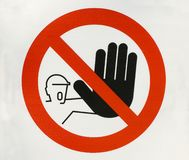 符号终止警告 免版税库存图片