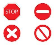 符号终止 免版税库存图片