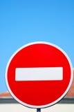 符号终止 免版税图库摄影
