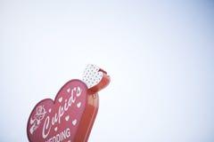 符号维加斯婚礼 免版税库存照片