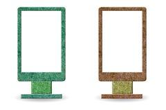 符号董事会做的ââfrom被回收的木头 库存图片