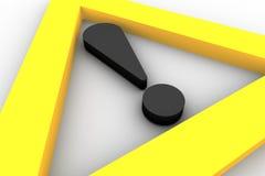 符号警告 免版税图库摄影