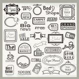 符号设计和被设置的横幅标头 免版税库存图片