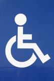 符号轮椅 免版税库存图片
