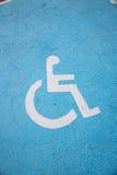 符号轮椅 图库摄影