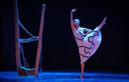 符号价值差事到迷宫现代舞蹈舞蹈动作设计者玛莎・葛兰姆里 免版税库存照片