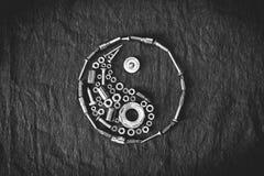 符号ying的杨 库存照片