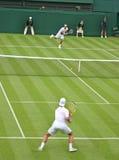 符合网球 免版税图库摄影