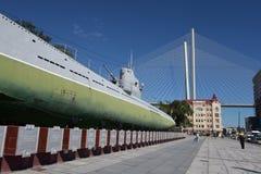 符拉迪沃斯托克的纪念水下博物馆S-56,滨海边疆区 图库摄影