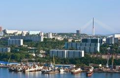 符拉迪沃斯托克 俄国 2015年6月13日:一部分看法的符拉迪沃斯托克 免版税库存图片