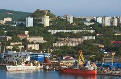 符拉迪沃斯托克 俄国 2015年6月13日:一部分看法的符拉迪沃斯托克 免版税图库摄影