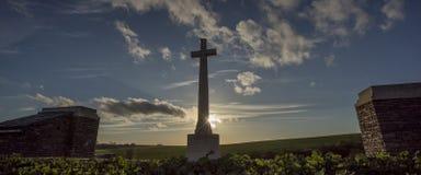 第一世界大战battlefeild,索姆省,法国 免版税库存照片