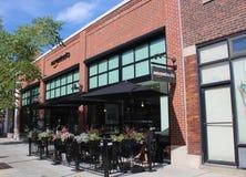 第一个亚马逊书店和咖啡馆在芝加哥,中西部U S 库存图片