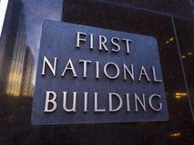 第一个全国大厦在俄克拉何马市-俄克拉何马市-俄克拉何马- 2017年10月18日 免版税库存图片