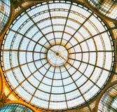 第一个商城,圆顶场所Vittorio Emanuele II 免版税图库摄影