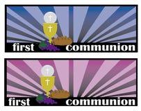 第一个圣餐或者第一圣餐 库存图片