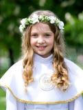 第一个圣餐美丽的女孩 免版税图库摄影