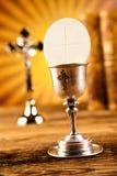 第一个圣餐,明亮的背景,饱和的概念 库存照片