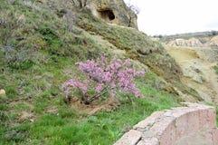 第一个基督徒的住宅岩石的,卡帕多细亚,中央土耳其 库存照片