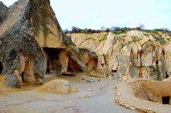 第一个基督徒的住宅岩石的,卡帕多细亚,中央土耳其 库存图片
