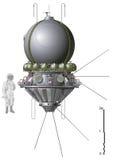 第一个太空飞船向量 库存照片