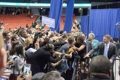 第一个夫人米歇尔・奥巴马发表一次演说 免版税库存图片