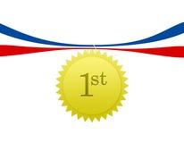 第一个奖牌安排 免版税库存照片