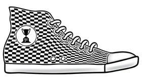 第一个安排跑鞋 免版税库存图片