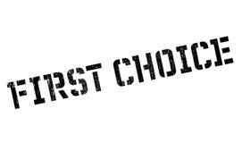 第一个挑选不加考虑表赞同的人 免版税库存图片