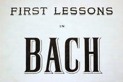 第一个教训在巴赫 库存照片