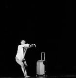 第一个爱现代舞蹈 库存图片