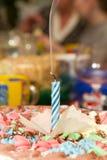 第一个生日蜡烛 免版税库存图片
