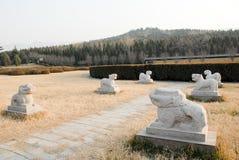 第一个秦代皇帝的陵墓在羡,中国 免版税库存图片