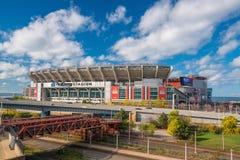 第一个能量体育场在克利夫兰 免版税库存照片