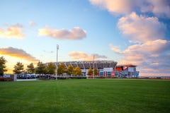 第一个能量体育场在克利夫兰 库存照片