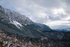 第一个雪冬天 免版税库存照片
